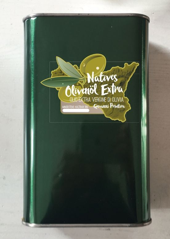 Natives Olivenöl Extra von Giovanni Privitera (0,5l)
